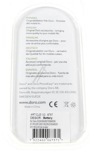 Akumulator | Bateria 3.7V 850mAh do smartfona 380064,1