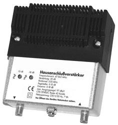 Wzmacniacz antenowy HVS301 szerokopasmowy,0