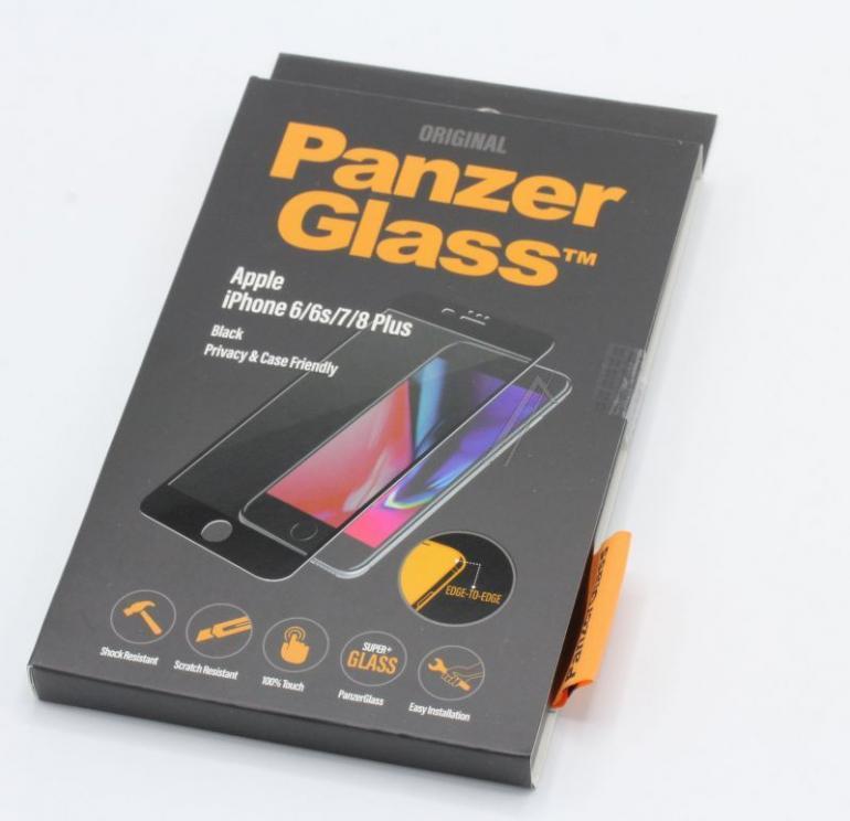 Szkło hartowane Panzer Glass na wyświetlacz do smartfona Apple iPhone 6/6S/7/8 Plus P2619,0