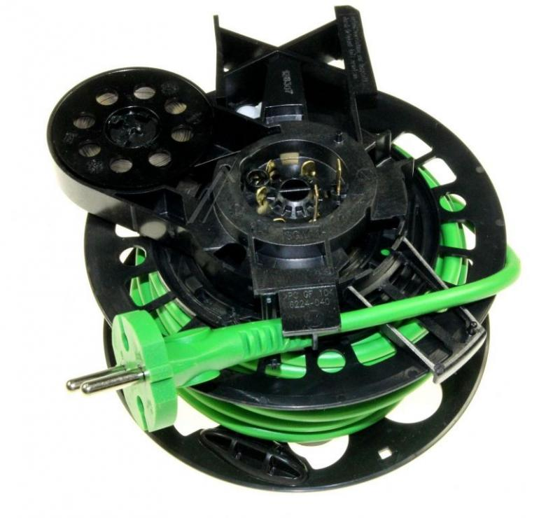 Zwijacz kabla z kablem zasilającym i wtyczką do odkurzacza Siemens 00646161,0