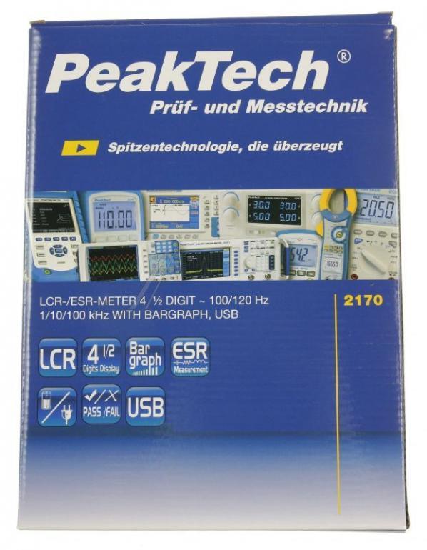 P2170 2170 miernik lcr-/esrt 100hz-100khz z usb peaktech PEAKTECH,1