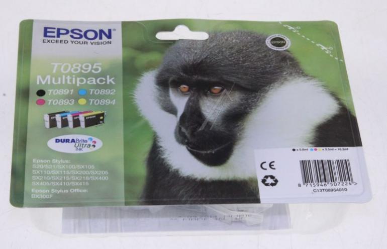 Tusze: czarny, cyjan, magenta, żółty do drukarki Epson C13T08954010,0