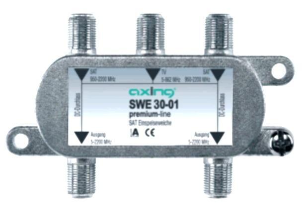 SWE03001 SWE3001 EINSPEISEWEICHE 2X SAT-EINGÄNGE + 1X TERRISTRISCH AXING,0