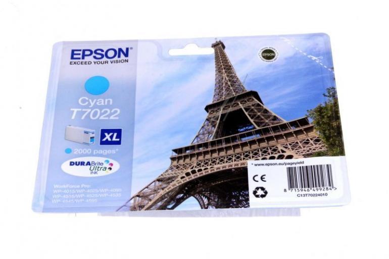 Tusz cyan do drukarki EPSON C13T70224010,0