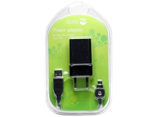 Ładowarka sieciowa USB z kablem do smartfona DORO 380158,0