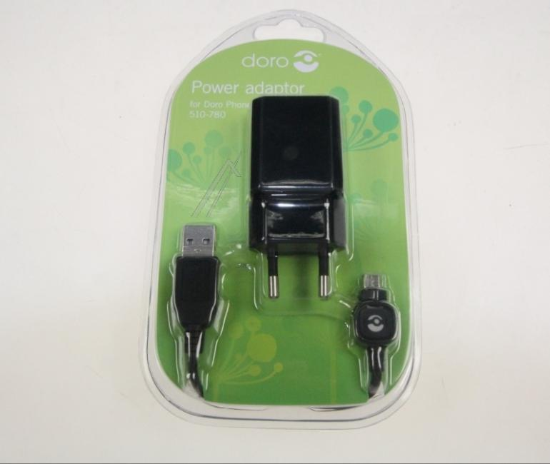 Ładowarka sieciowa USB z kablem do smartfona DORO 380158,1