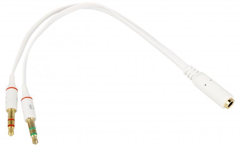 Adapter słuchawkowy jack 3,5mm 4 pin wtyk / 2x gniazdo jack 3,5mm DELOCK 65585,0