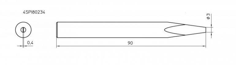 Grot lutowniczy do lutownicy Weller SPI80 234 4SPI802341,1