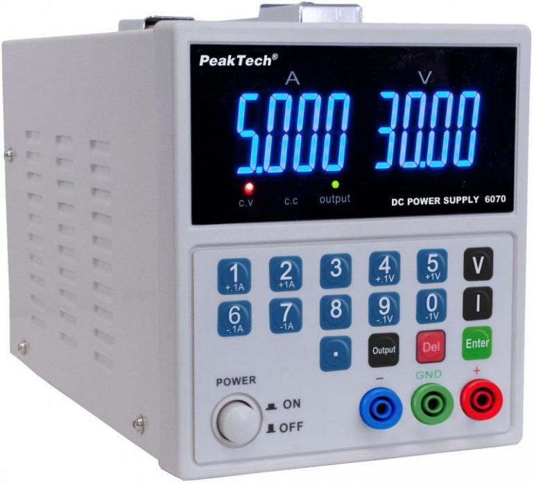 Zasilacz laboratoryjny PeakTech P6070,0