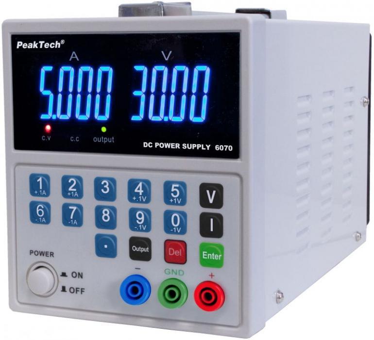 Zasilacz laboratoryjny PeakTech P6070,2