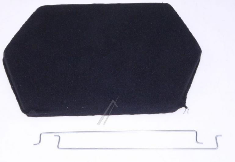 Filtr węglowy prostokątny 480122101068 do okapu Whirlpool 25.5x18cm,0