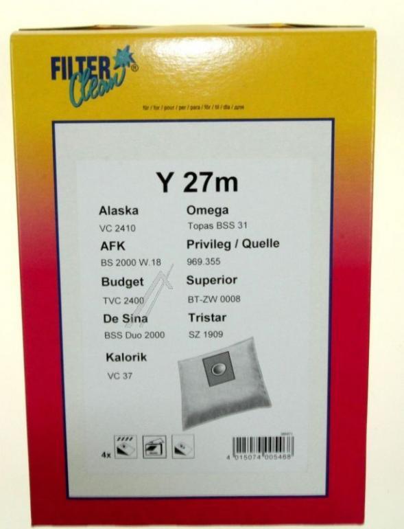 Worki Y27M 4szt. do odkurzacza FILTERCLEAN,0