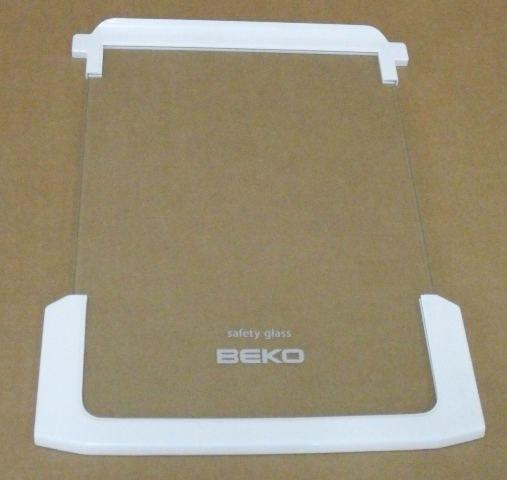Półka szklana z ramkami do komory chłodziarki do lodówki Beko 4333523100,0