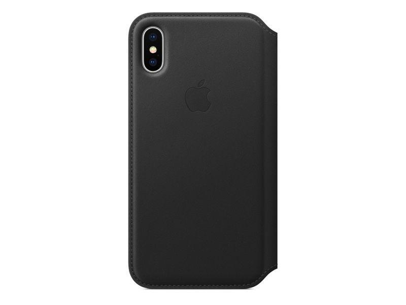 MQRV2ZMA Etui  skórzane FOLIO CASE do Apple Iphone X, czarne APPLE,0