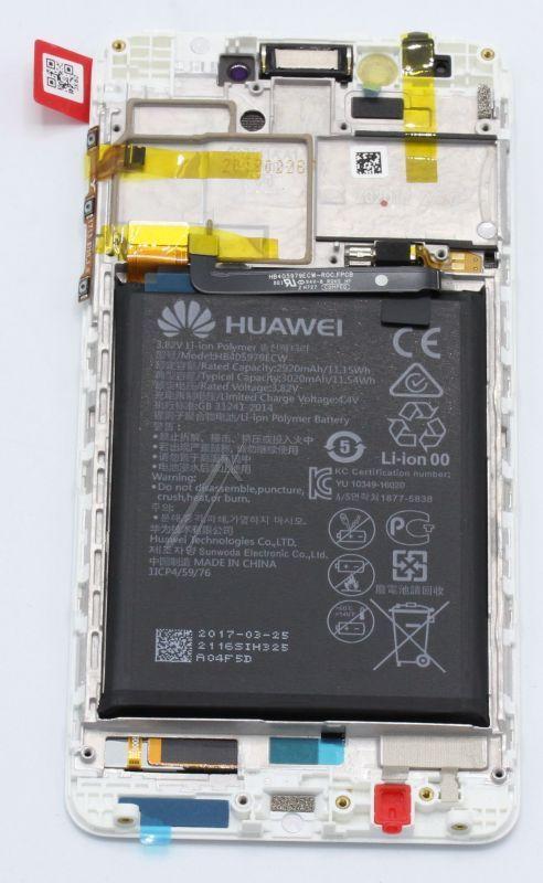 02351FUU LCD + dotyk + bateria do Huawei Honor 6C Dual, biały HUAWEI,1