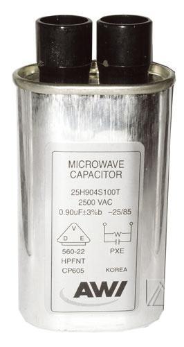 Kondensator 0.9uF 2500V  do mikrofalówki Whirlpool,0