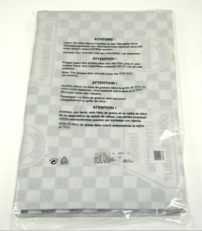 Filtr przeciwtłuszczowy papierowy do okapu Neff  LZ23000 00452152,4