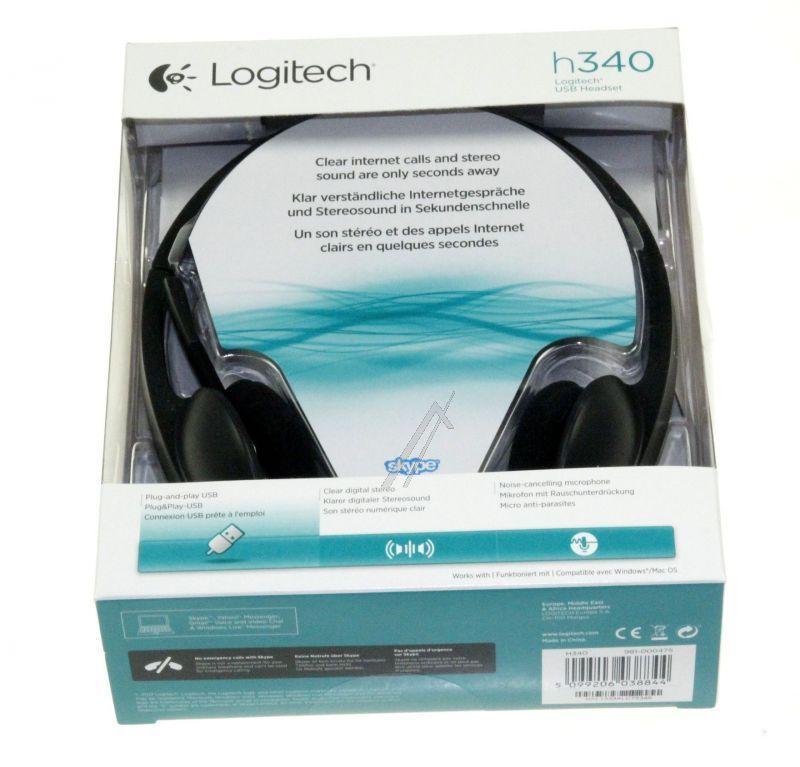 981000475 H340 STEREO-HEADSET, USB LOGITECH,1