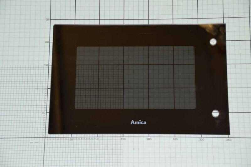 Szyba zewnętrzna drzwiczek do mikrofalówki Amica 1034161,0