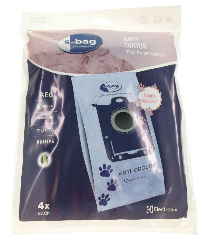 Worki S-Bag Anti-Odour E203P 4szt. do odkurzacza Electrolux,0