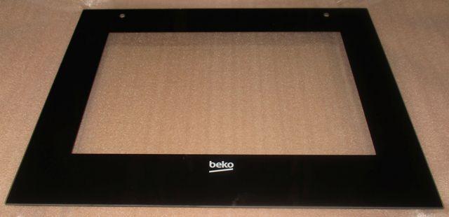 Zewnętrzna szyba drzwi z ramą do piekarnika Beko 210444372,0