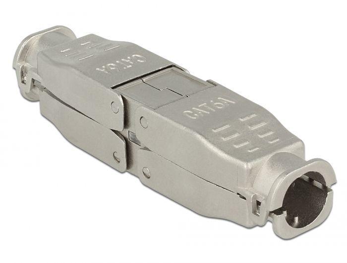 86429 Łącznik kabla sieciowego  CAT.6A STP, beznarzędziowy DELOCK,0