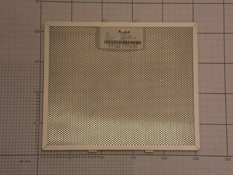Filtr przeciwtłuszczowy metalowy (aluminiowy) do okapu Amica 1019978,1