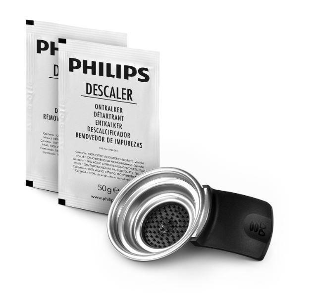 Odkamieniacz + uchwyt na saszetki do ekspresu PHILIPS/SAECO CA652202,2