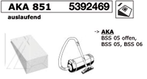 Worki AKA851 8szt. do odkurzacza,0