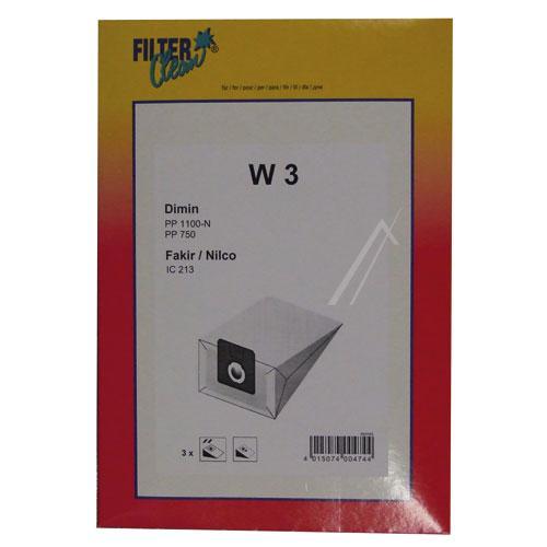 Worki W3 3szt. do odkurzacza Dimin,0
