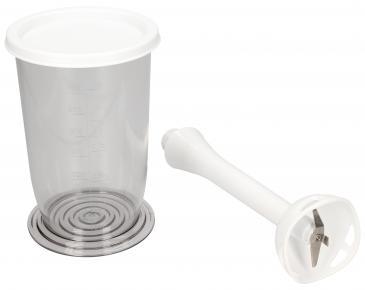 Pojemnik | Dzbanek blendera z pokrywą + nasadka miksująca do miksera ręcznego 00573421