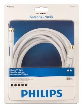 Kabel antenowy 5m COAX - Złącze F (wtyk/ wtyk) SWV4154S10