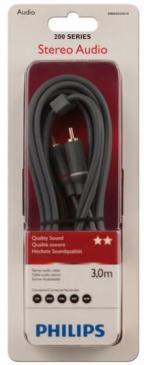 Kabel CINCH 3m (wtyk x2/ wtyk x2) SWA4523S10