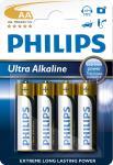R6 | LR6 | Bateria AA (Ultra Alkaline) 1.5V Philips (4szt.)