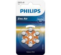 ZA13 Bateria Zn-air 1.4V 280mAh Philips (6szt.) aparatów słuchowych