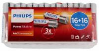 R6   LR6   Bateria AA (Power Alkaline) 1.5V Philips (32szt.)