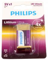 6F22   6LR61   Bateria litowa 9V Philips (1szt.)