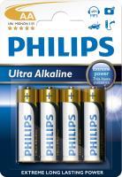 R6   LR6   Bateria AA (Ultra Alkaline) 1.5V Philips (4szt.)
