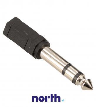 Adapter Jack 3,5mm stereo - Jack 6,3mm stereo (gniazdo/ wtyk) standard