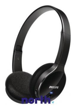 SHB400000 słuchawki nauszne bluetooth, czarne, idealne dla smartfonów PHILIPS