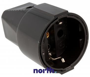 912170 gniazdo schuko na kabel czarne BACHMANN