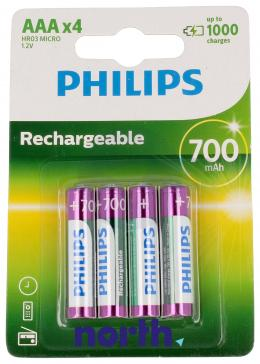 R3 Akumulator AAA 1.2V 700mAh Philips (4szt.)