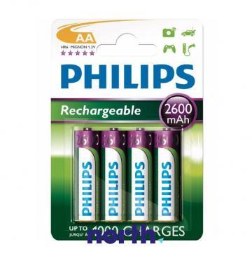 R6 Akumulator AA 1.2V 2600mAh Philips (4szt.)