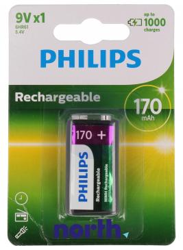 6F22 Akumulator PHILIPS 9V 170mAh