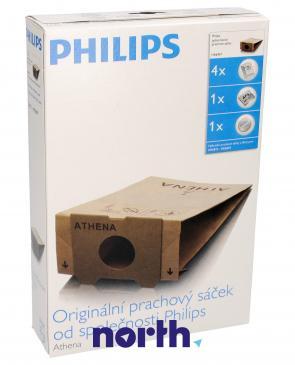 Worek do odkurzacza HR6947 ATHENA Philips 4szt. (+2 filtry) 482201570058