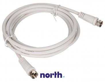 Kabel antenowy Złącze F 2.5m (wtyk/wtyk) standard