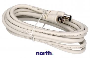 Kabel antenowy 2.5m COAX - Złącze F (wtyk/ wtyk) high quality