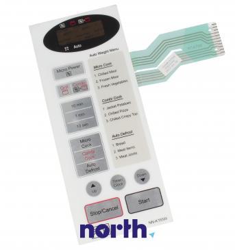 Klawiatura membranowa NN-K155W panelu sterowania do mikrofalówki Panasonic 3506W1A769A
