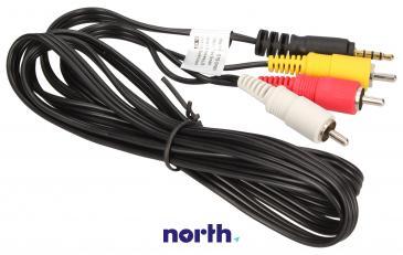 Kabel CINCH - JACK (wtyk x3/3.5mm 4 pin wtyk)
