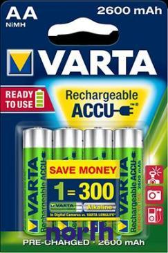 R6 Akumulator AA 1.2V 2500mAh Varta (4szt.)